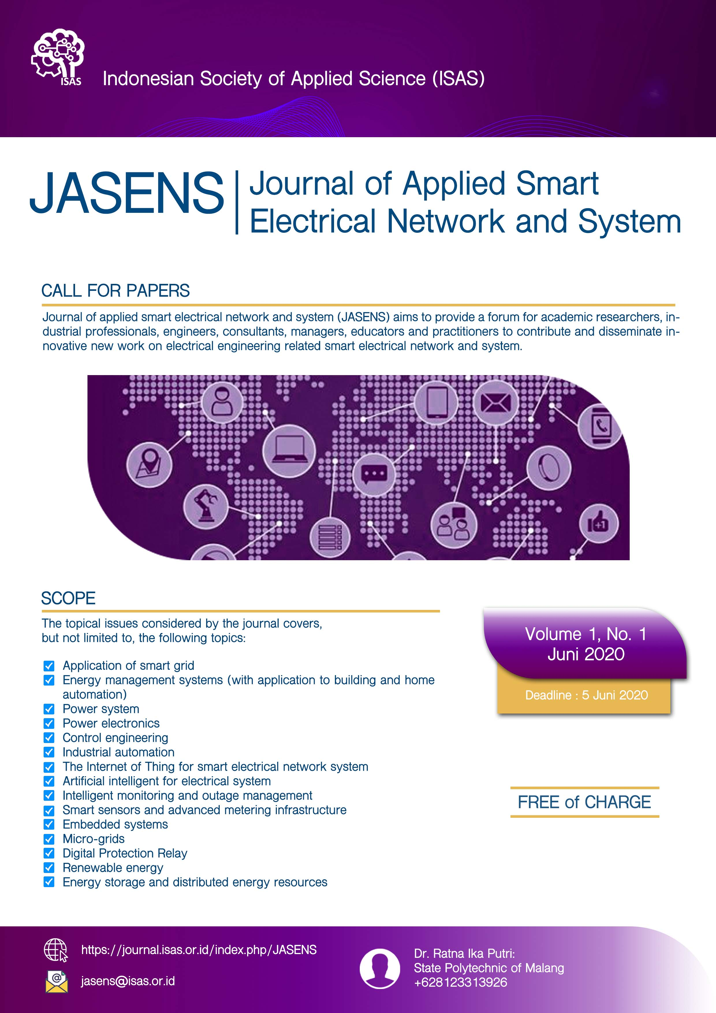 Journal Of Applied Smart Electrical Network And Systems